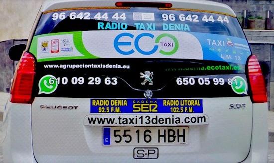 Los primeros eco taxis de España, certificados en  Dénia, Alicante