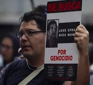 Afectados por la represión militar de Ríos Montt