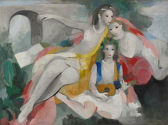 Laurencin: Trois jeunes femmes, 1953. Adagp