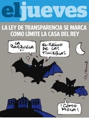 Viñeta de El Jueves dedicado a la transparencia y la Casa del Rey