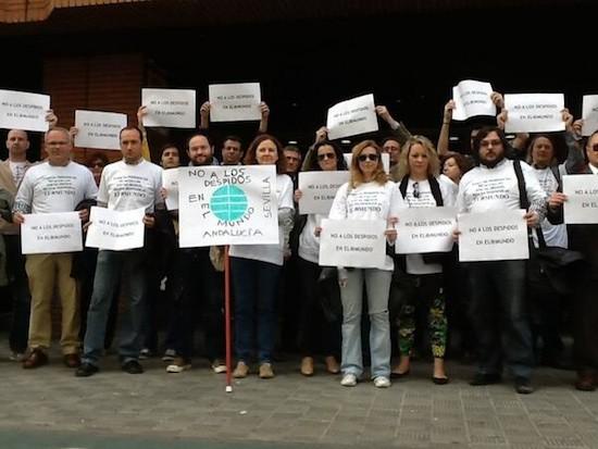 Trabajadores de El Mundo en Sevilla