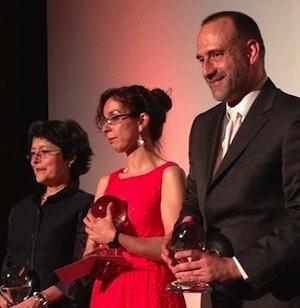 Griselda Pastor, Mónica Bernabé y Marc Marginedas en la entrega del Cirilo Rodríguez de Periodismo 2013