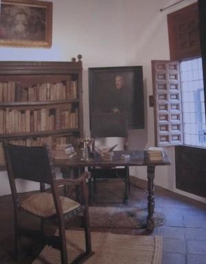 Escritorio de Lope de Vega en su casa de la calle Cervantes en Madrid