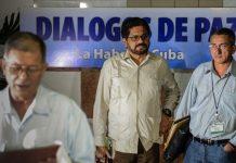 Negociadores de las FARC en La Habana