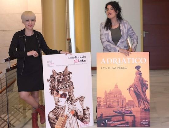 Remedios Zafra y Eva Diaz, premios Málaga de novela y ensayo