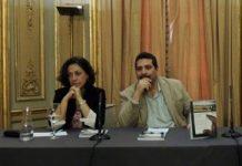 Iroel Sánchez con Ángeles Díez