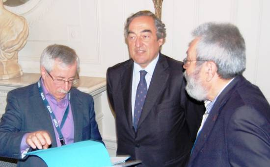 Toxo, Rosell y Méndez coincidieron en Santander