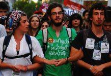 """Protesta de la """"Marea Verde"""" en Madrid"""