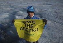 Alejandro Sanz en el casquete polar ártico