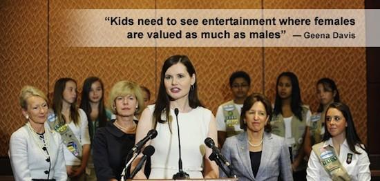 Los niños necesitan ver entretenimiento donde las mujeres se valoran tanto como los hombres