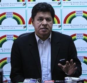 Rubén Saavedra, ministro de Defensa de Bolivia