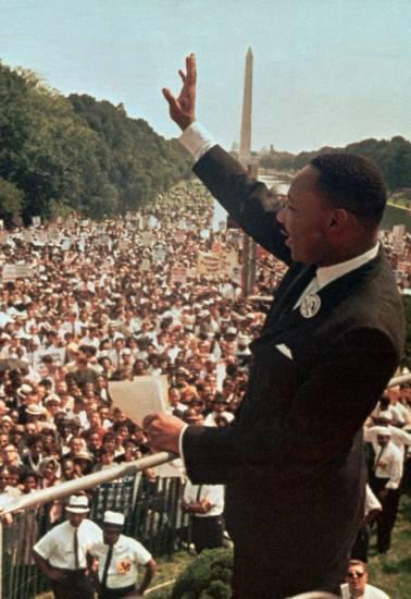 """Martin Luther King en su famoso discurso """"I have a dream"""" el 28 de agosto de 1963"""