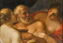 Lot y sus hijas-Atribuido a Alessandro Varotari (1600-1630). (Detalle). Colección Fundación Dinastía Vivanco.