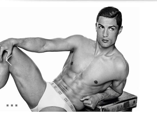 Cristiano Ronaldo, model of the image campaign of its underwear line CR7 by Cristiano Ronaldo. Photo by Giampaolo Sgura