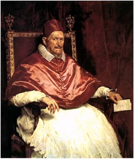 Diego Velázquez, El papa Inocencio X, 1650, 140x120cm, Galleria Doria Pamphilj, Roma