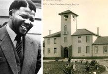 El joven Nelson Mandela estudió en la Universidad Metodista de Fort Hare en su juventud