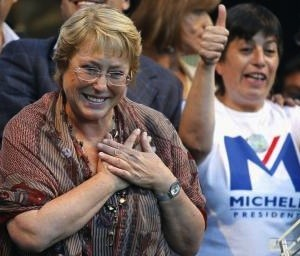 Michelle Bachelet elegida-presidenta de Chile