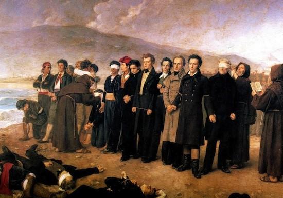 El fusilamiento de Torrijos' del pintor español Antonio Gisbert en 1888. El pelirojo que está en el centro del cuadro es Robert Boyd.
