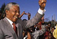 Nelson Mandela en Sudafrica