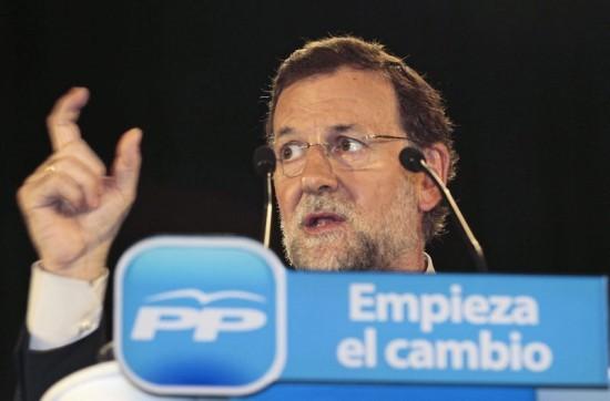 Mariano Rajoy en campaña electoral