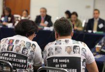Audiencia de la CIDH en marzo de 2013 sobre personas desparecidas. Foto de Oliver Contreras / Eddie Arrossi Photography