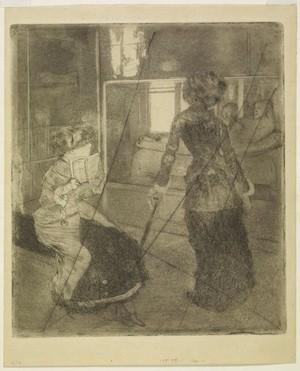 Degas Mary Cassat en el Louvre la sala etrusca 1880 Edgard Degas íntimo en la Fundación Canal