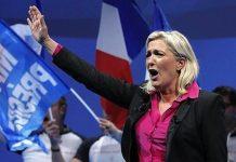 Marine Le Pen, líder del Frente Nacional de la derecha en Francia
