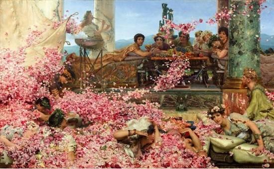 L. Alma Tadema. Las rosas de Heliogábalo 1888. Col. Pérez Simón, México