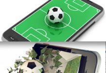 Mundial de Fútbol de Brasil en el móvil. comtricolor com (arriba), mediapunta.es