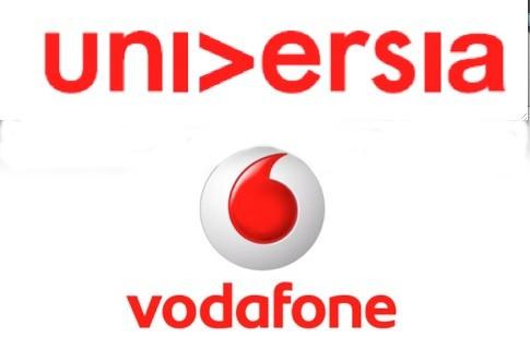 Logos de Universia y Vodafone