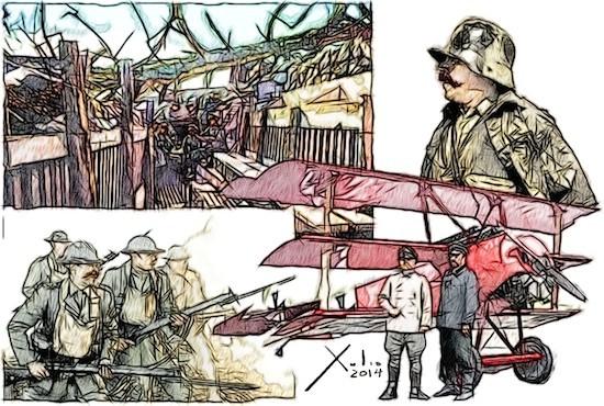 Xulio Formoso: Primera Guerra Mundial