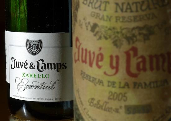 Juvé & Camps Brut Nature Reserva Xarel.lo 2012 y Juvé y Camps Brut Nature Reserva de la Familia 2005. (C) Manuel López