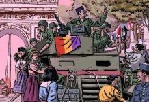 """© Éditions Delcourt   La couverture de la bande dessinée """"La Nueve"""" de Paco Roca"""