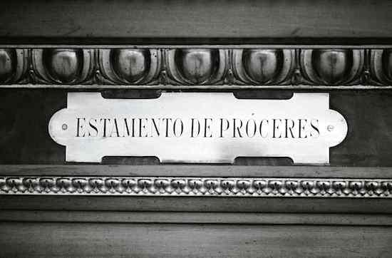 © Manuel López. Estamento de Próceres. Consejo Nacional, actual Senado. Madrid, 1976. De la exposición fotográfica itinerante Manuel López. Imágenes 1966-2006*