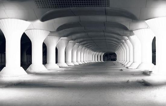 Andén de la futura Gare de Austerlitz en París