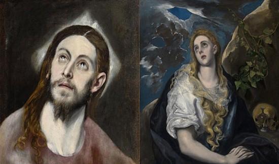 El Greco: Jesús y Magdalena