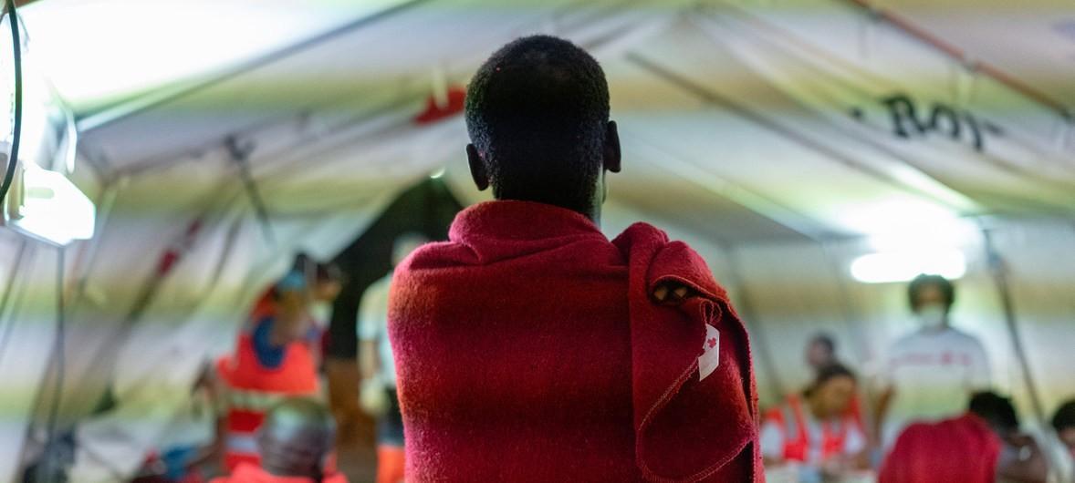 ACNUR/Markel Redondo:Un refugiado africano en Málaga, España.