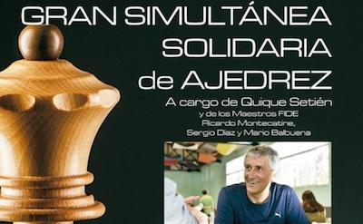 Cartel de las simultáneas con el entrenador del Betis, Quique Setién