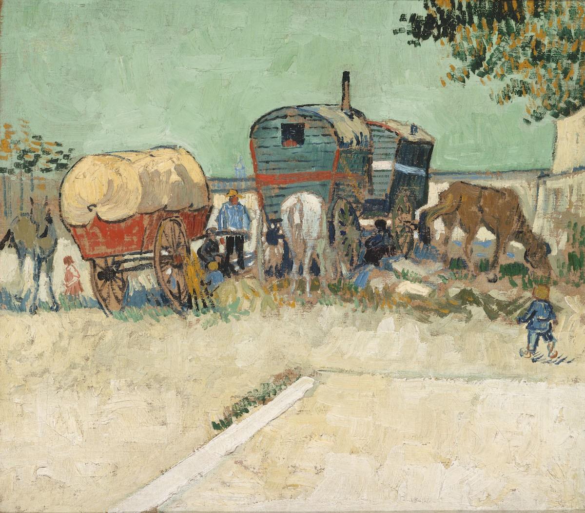 Campamento bohemio en Arlés. Van Gogh