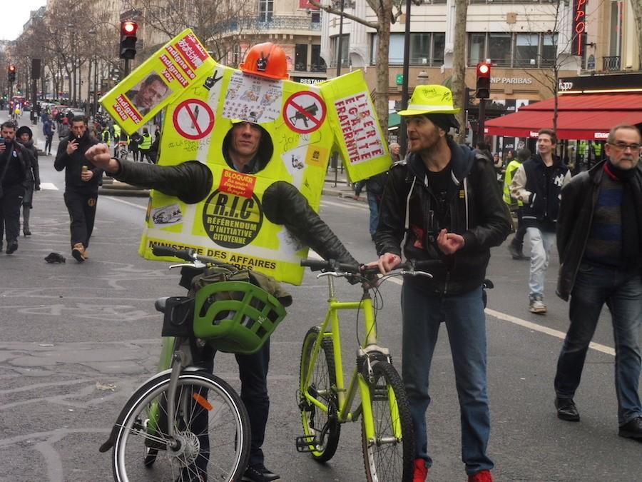Manifestación de gilets jaunes en París el 27 de enero de 2019