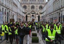 Gilets jaunes en Bourges el 12 de enero de 2019