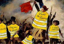 Los gilets jaunes se consideran herederos de los revolucionarios parisinos