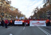 Manifestación ciudadana en Barcelona en apoyo del Open Arms. Eva Marín, Pressenza