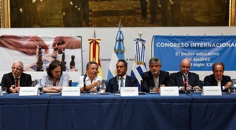 Mesa inaugural del Congreso de Ajedrez educativo