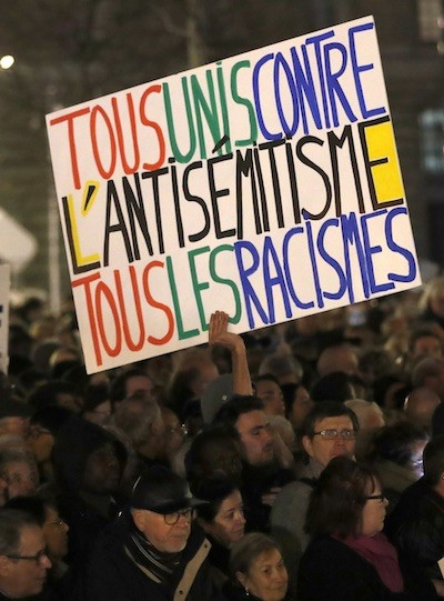 Francia contra antisemitismo FEB2019