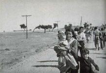 Guerra civil familias huyen tropas de Franco