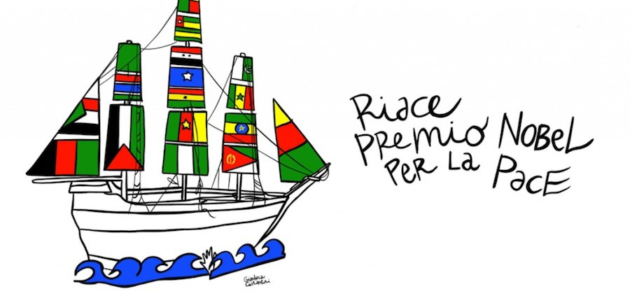 Riace premio nobel paz banner