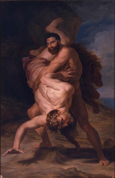 Tegeo Hércules y Anteo