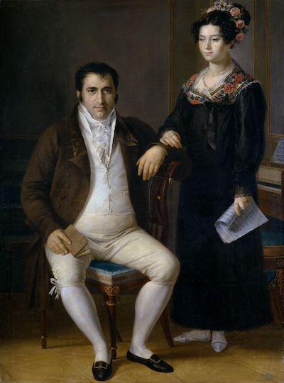 Tegeo: Pedro Benítez y su hija María de la Cruz