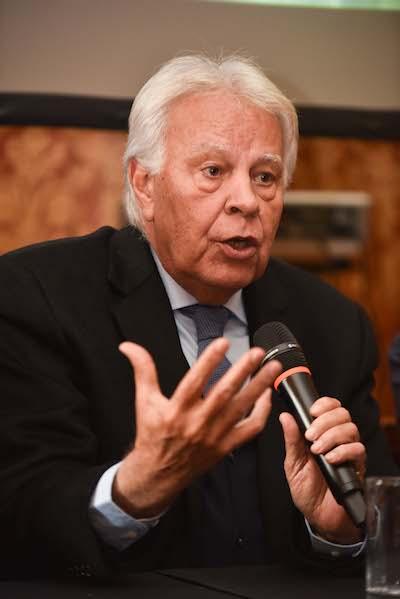 Felipe Gonzalez en la presentación de TIFE 2019